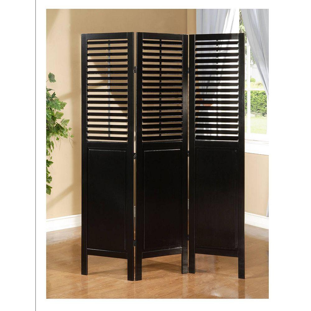 Worldwide Homefurnishings Inc. Trinity Room Divider - Black