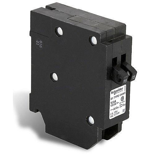 Disjoncteurs en tandem Homeline de 15A-15A unipolaire