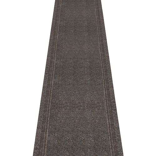 Tracker Brown 2 ft. 2-inch x Custom Length Indoor Contemporary Runner