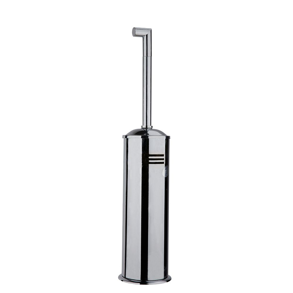 Holten Impex Squaretone Standing Toilet Brush and Holder in Brushed Nickel