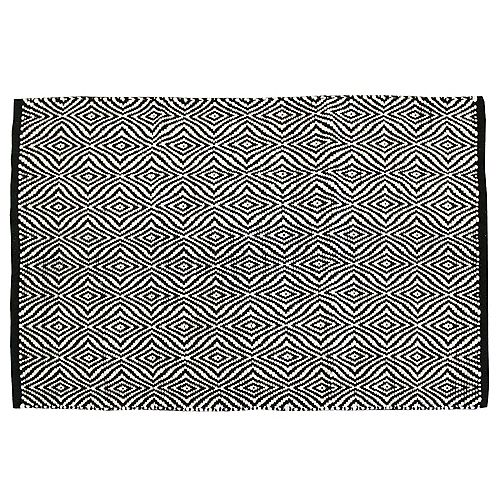 Petit tapis d'appoint rectangulaire réversible de styles variés, 2pi x 3pi