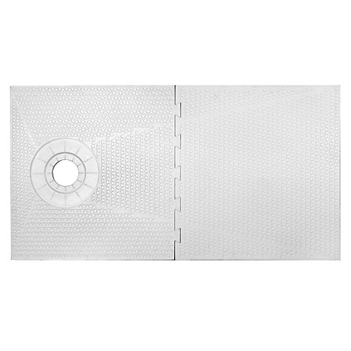 32-inch X 60-inch -PAN SHOWER COMPONENT - OFF SET DRAIN PLACEMENT
