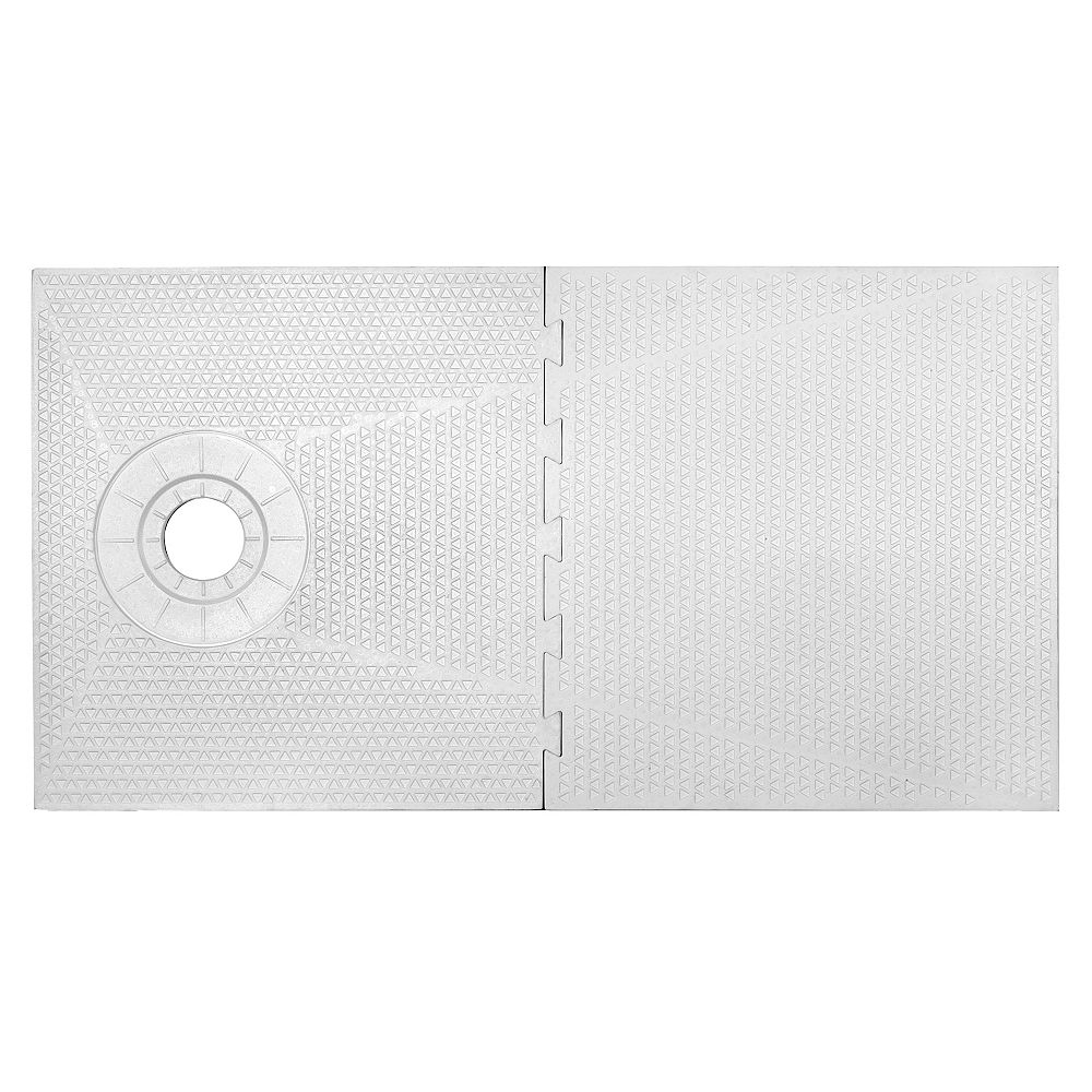 PROVA 32-inch X 60-inch -PAN SHOWER COMPONENT - OFF SET DRAIN PLACEMENT