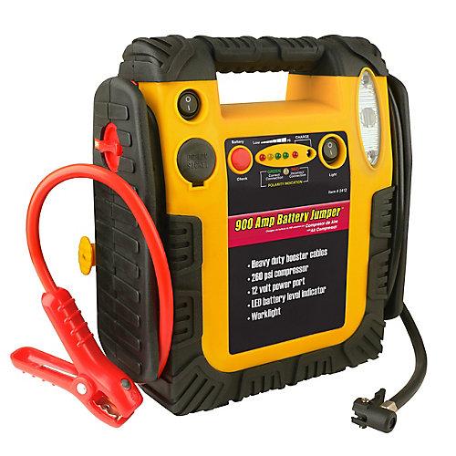 900 A Battery Jumper Avec Compresseur d'Air