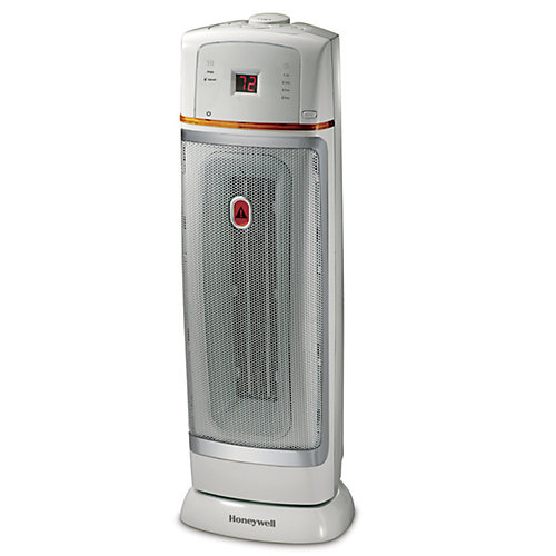 Electronic Ceramic Tower Heater Gray