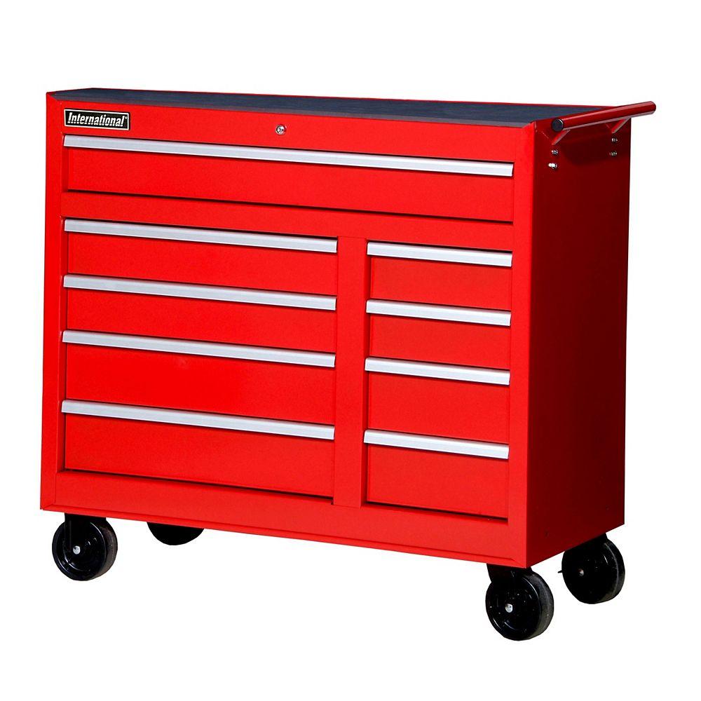 International 42-inch 9-Drawer Cabinet in Red