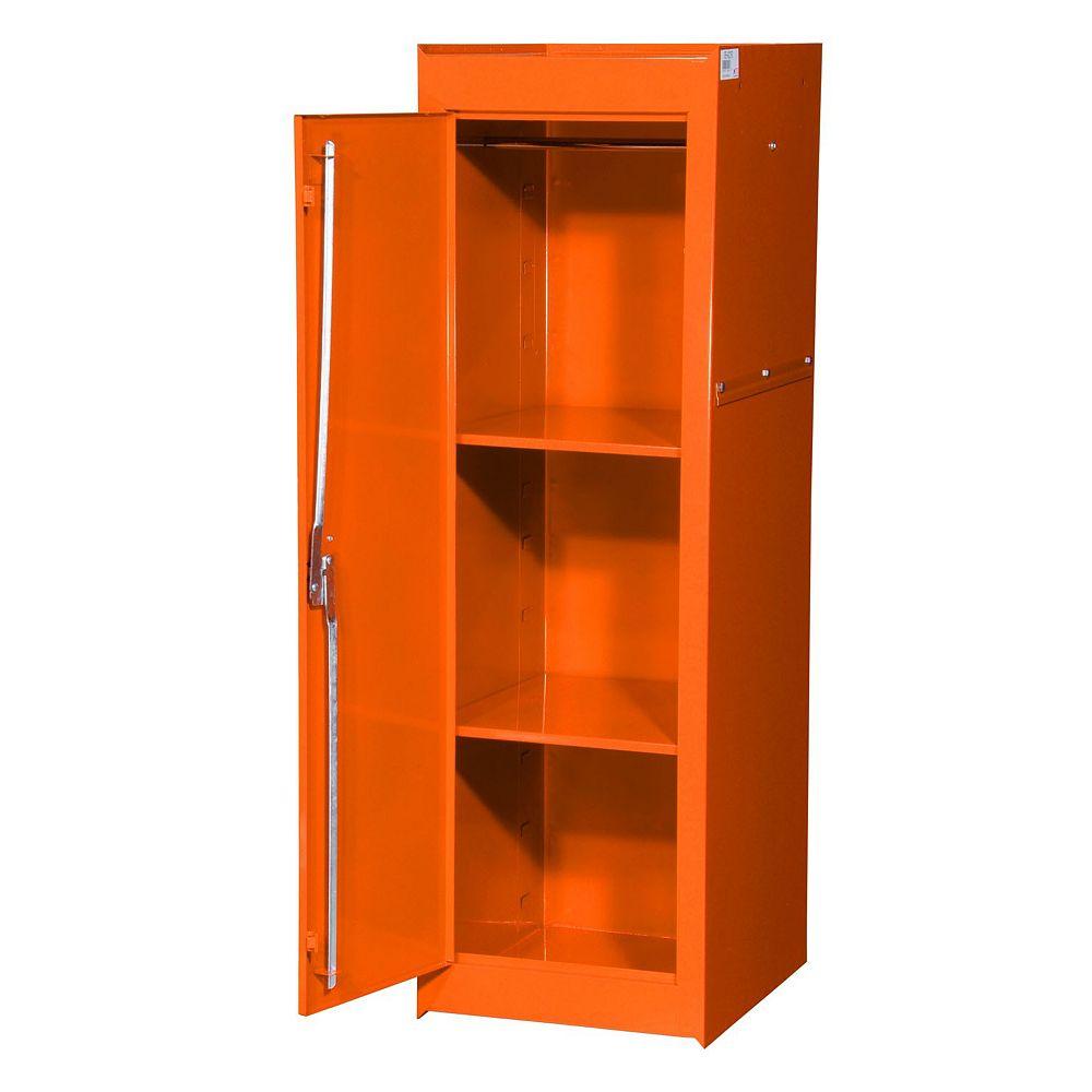 International 15-inch 2-Shelf Extra Deep Full Length Side Locker in Orange