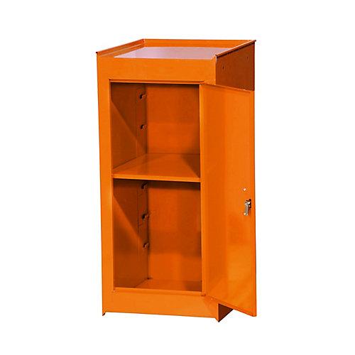 """Demi Casier latérale 14"""" de Large, Orange"""