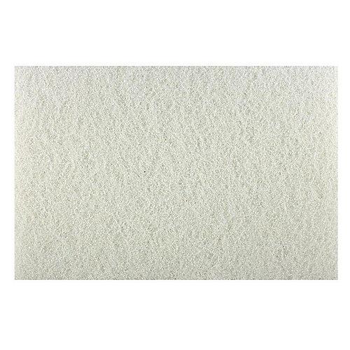 Tampon de polissage 12po x 18po blanc