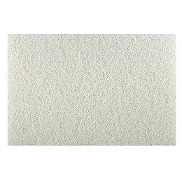 12-inch x 18-inch Square Random Orbital Sander (ROS) White Buffer Pad for Wood Polishing