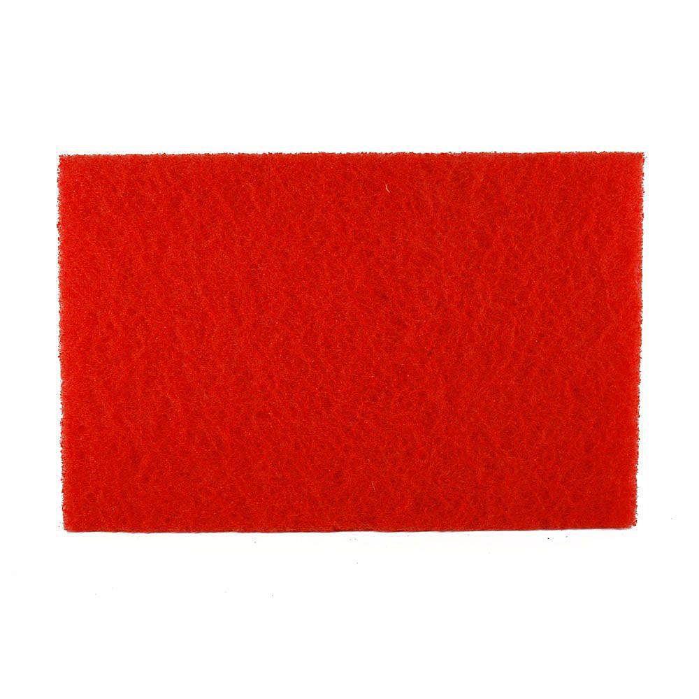 Diablo Tampon rouge de ponceuse orbitale carrée (ROS) de 12 po x 18 po pour le polissage du bois