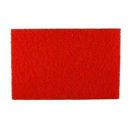 Tampon rouge de ponceuse orbitale carrée (ROS) de 12 po x 18 po pour le polissage du bois