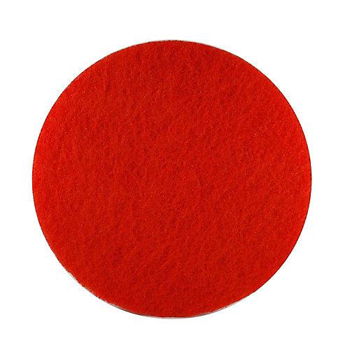 Tampon de polissage 12po x 18po rouge