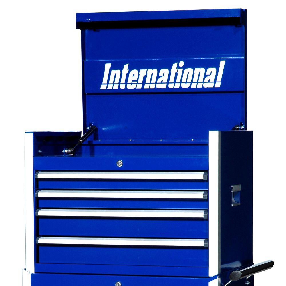 International Série Professionelle, Coffre à 4 tiroirs, 27 po, bleu