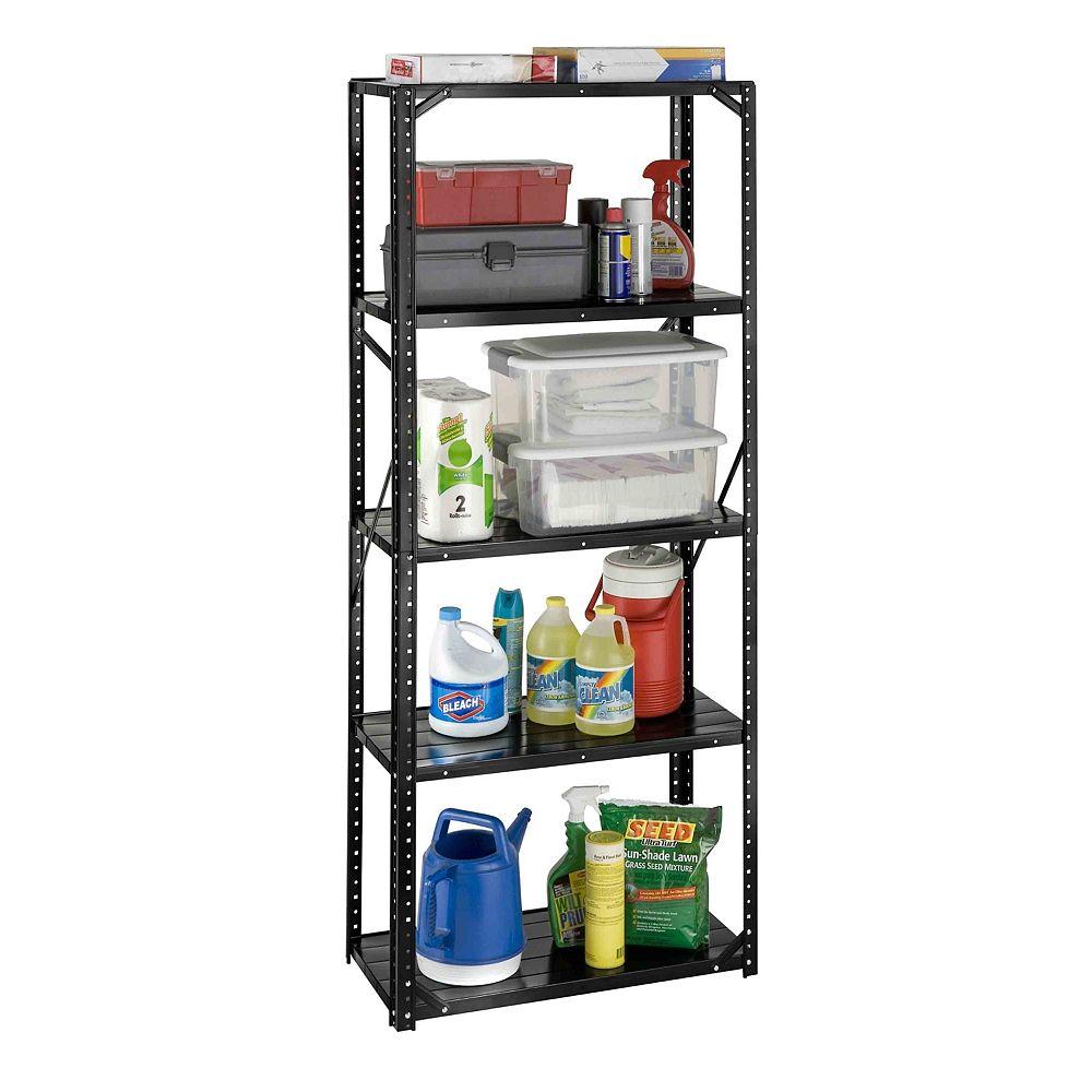 International 5 shelf, all steel bolted storage rack