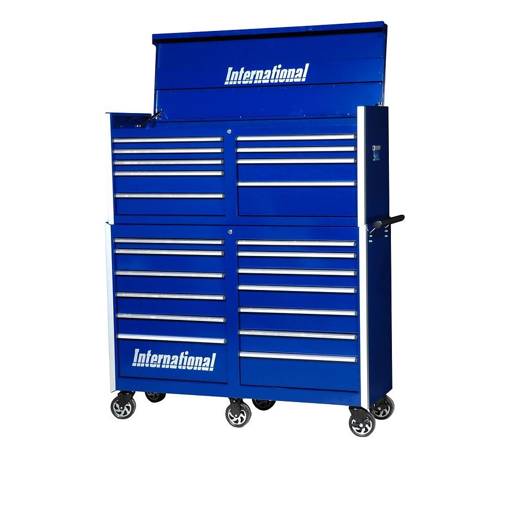 International Professional 54-inch 22-Drawer Tool Storage Chest and Cabinet in Blue
