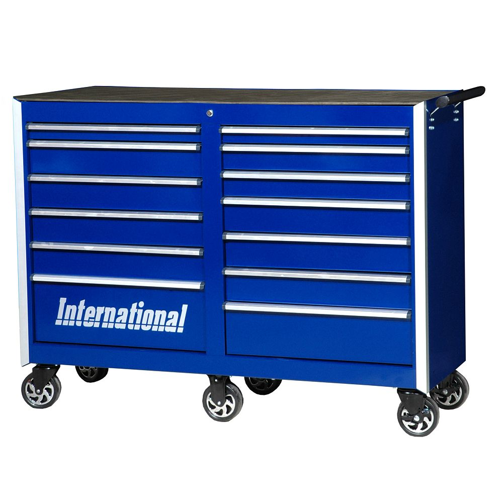 International Professional Series 54-inch  13-Drawer Tool Cabinet in Blue