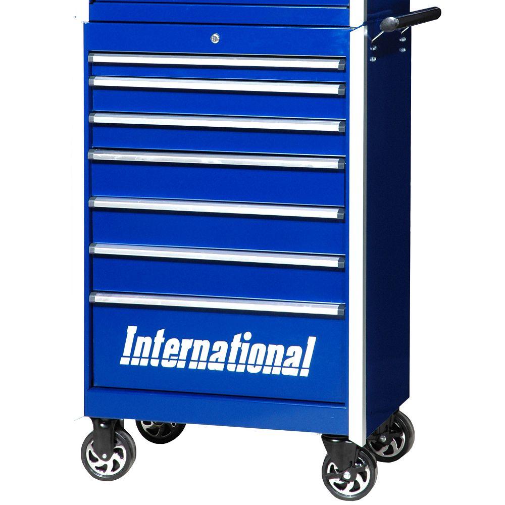 International Série Professionelle, Armoire à 7 tiroirs, 27 po, bleu