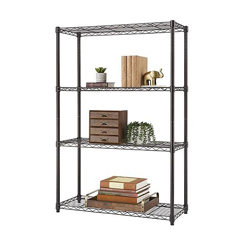 4-Tier Nsf 36X14X54 Indoor Wire Shelving - Dark Bronze