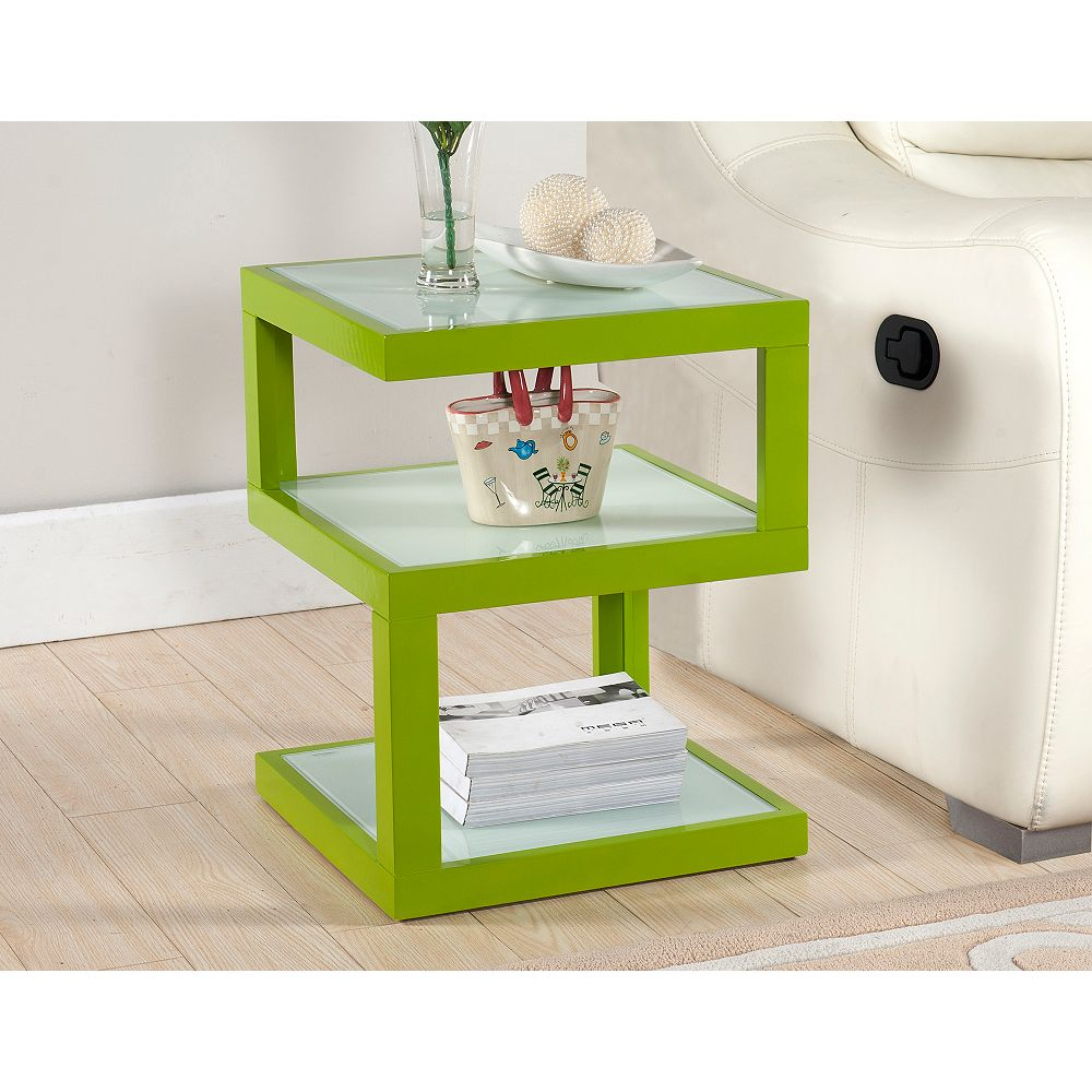 Worldwide Homefurnishings Inc. Quby-Accent Table-Lime