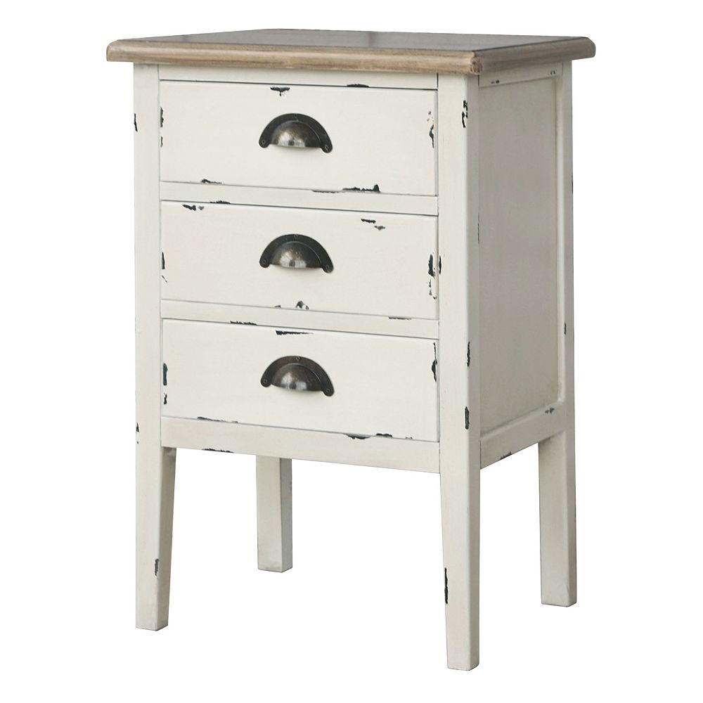 Worldwide Homefurnishings Inc. Amelia table d'appoint à 3 tiroirs