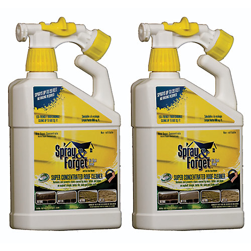 Super Concentrated Roof Cleaner With Hose Sprayer (32 Ounce) - (2-Pack)