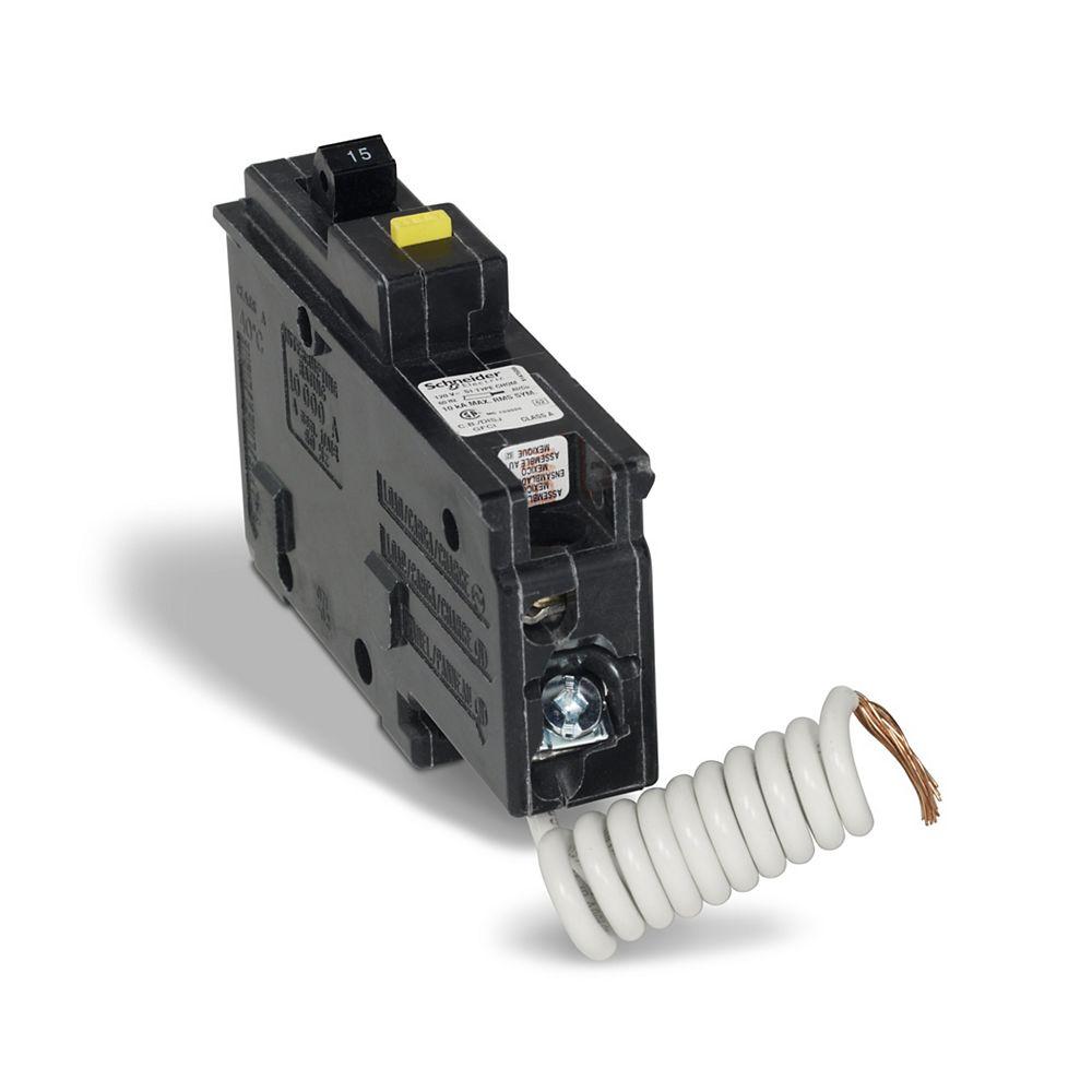 Schneider Electric Homeline Disjoncteur unipolaire 15 A HomeLine GFCI Plug-On