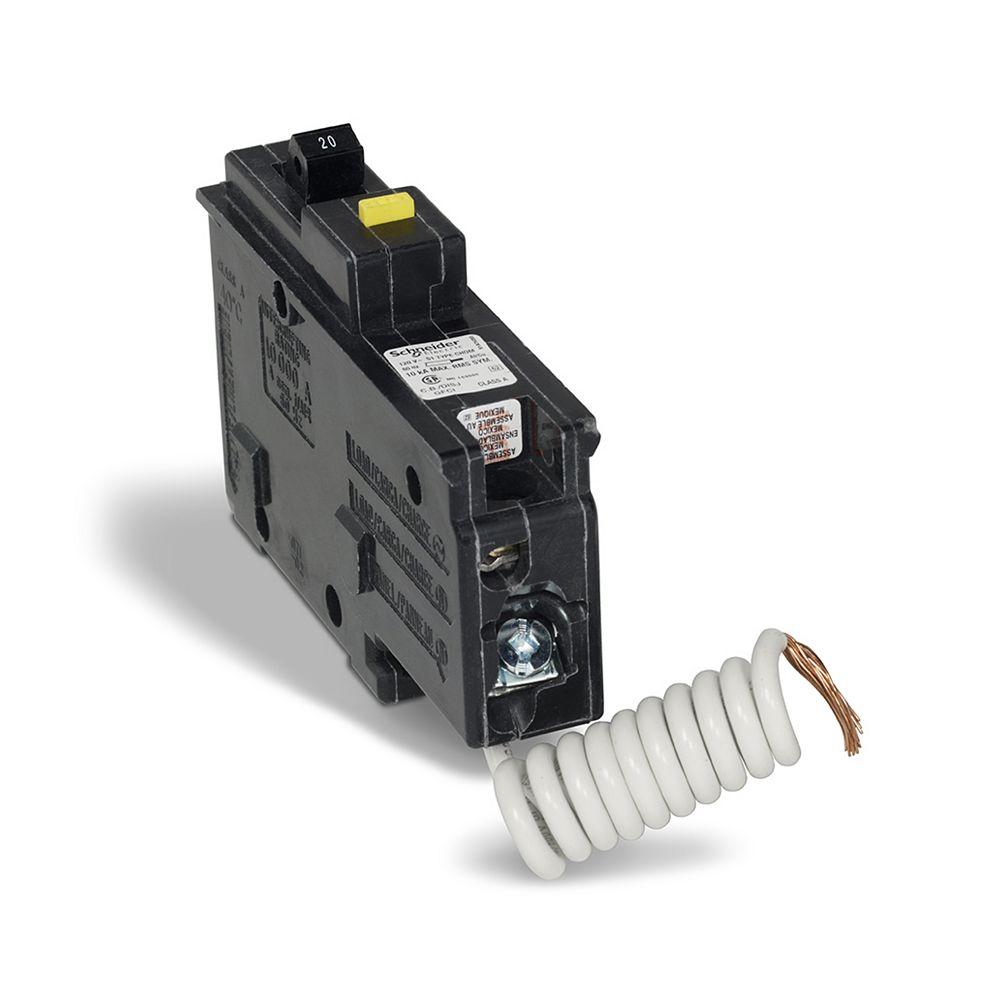 HomeLine Disjoncteur unipolaire 20 A HomeLine GFCI à brancher