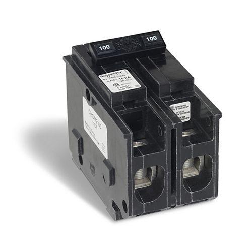 Schneider Electric Homeline Disjoncteur enfichable Homeline de 100A bipolaire