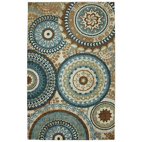 Mohawk Home Suzani Blue 5 ft. x 8 ft. Indoor Transitional Rectangular Area Rug
