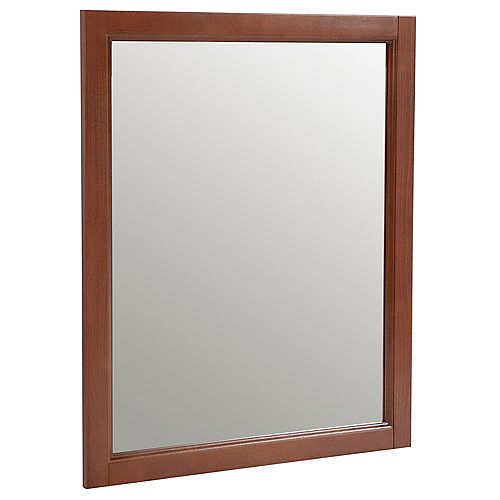Catalina 26-inch W x 31-inch H Framed Wall Mirror in Amber