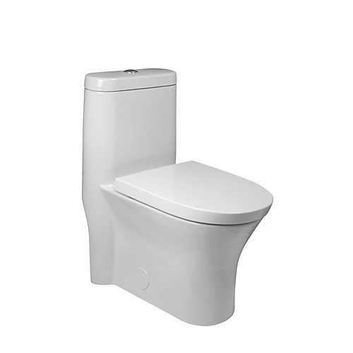 Cosette 4.8 LPF 1-Piece Dual-Flush Elongated Bowl Toilet