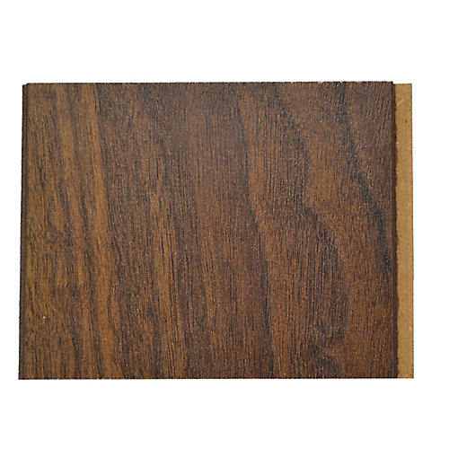 10mm Thick x 4-inch x 4-inch Dark Walnut Laminate Flooring (Sample)