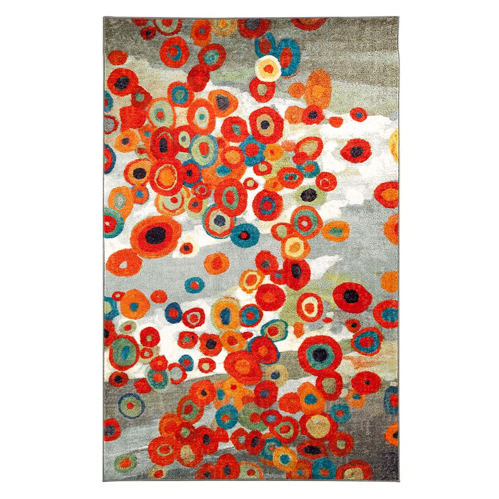 Mohawk Home Tossed Floral Multi-Colour 5 ft. x 8 ft. Indoor Contemporary Rectangular Area Rug