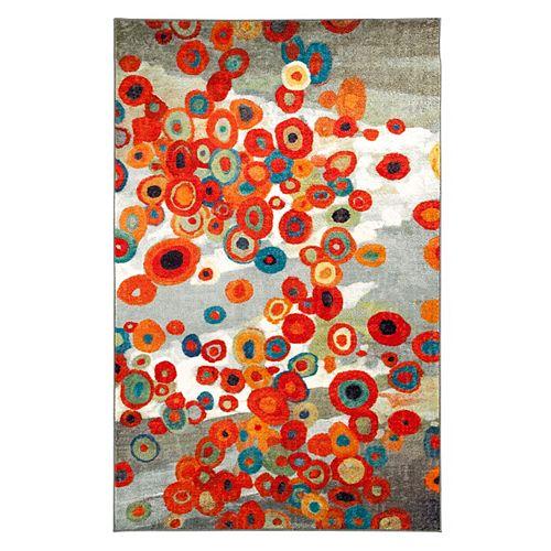 Carpette d'intérieur, 5 pi x 8 pi, à poils longs, style contemporain, rectangulaire, multicolore Tossed Floral