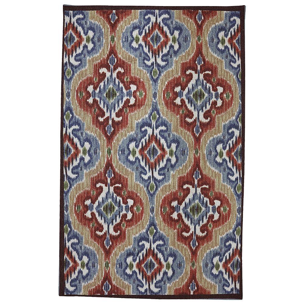 Mohawk Home Tapis de passage d'intérieur/extérieur, 8 pi x 10 pi, style transitionnel, rectangulaire, multicolore Mystic Ikat