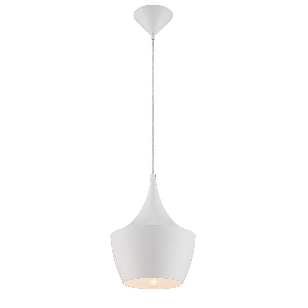 Eurofase Luminaire suspendu blanc à 1 lumière, Collection Piquito