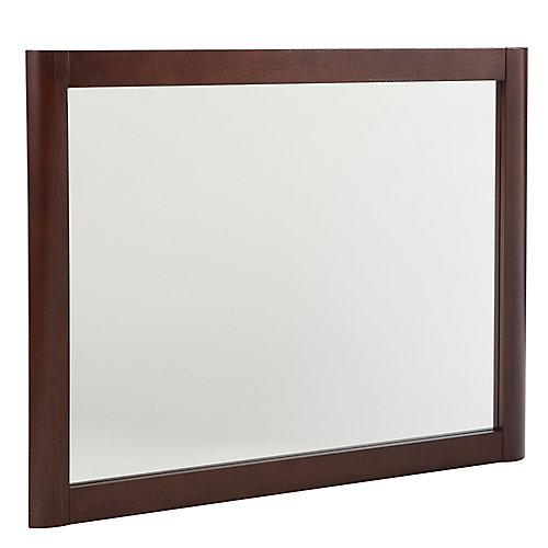 Miroir mural Madeline de couleur châtaigne