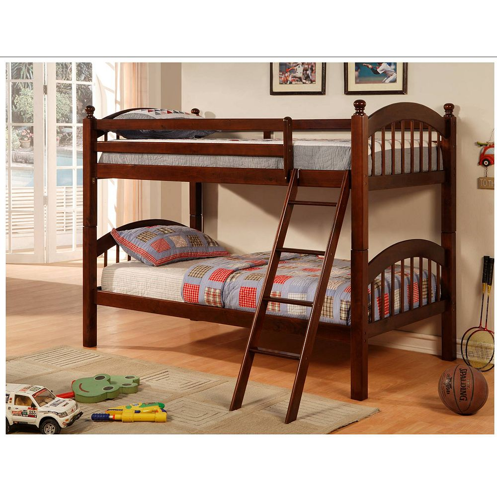 Worldwide Homefurnishings Inc. Princeton Bunk Bed Cappuccino