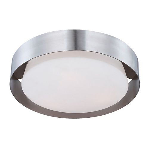 Eurofase Saturn Collection 3 Light Satin Nickel Flushmount