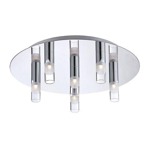 Eurofase Cube Collection 6 Light Chrome LED Flushmount