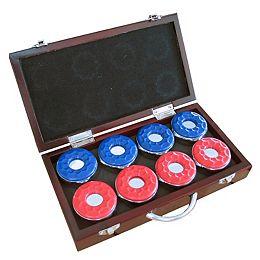 Palets pour table de shuffleboard - ensemble de huit