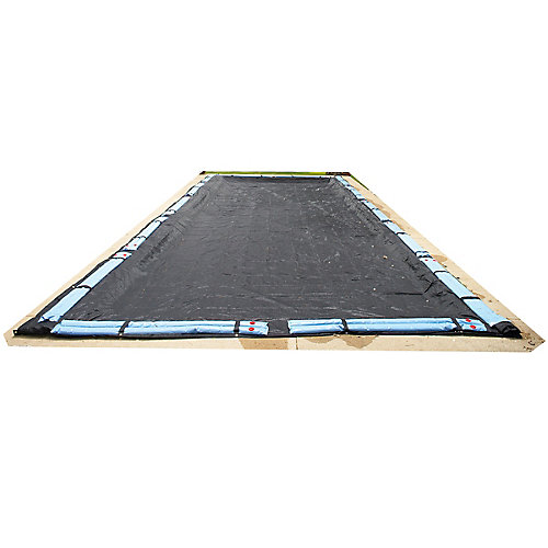 14 ft. x 28 ft. Rectangular Rugged Mesh In-Ground Pool Winter Cover