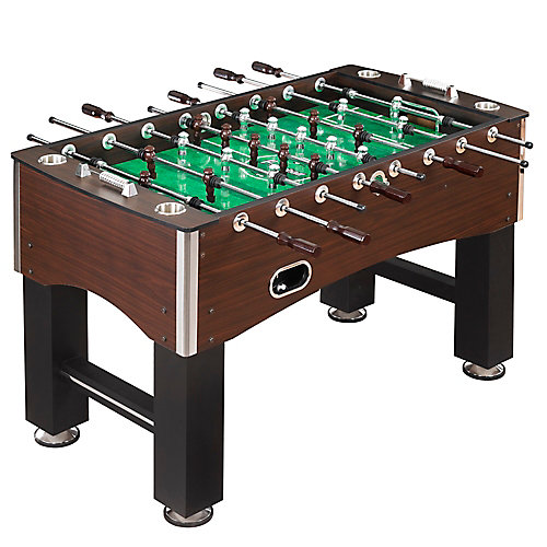 Primo 56-Inch Foosball Table, Family Soccer Game with Wood Grain Finish, Analog Scoring and Free Accessories