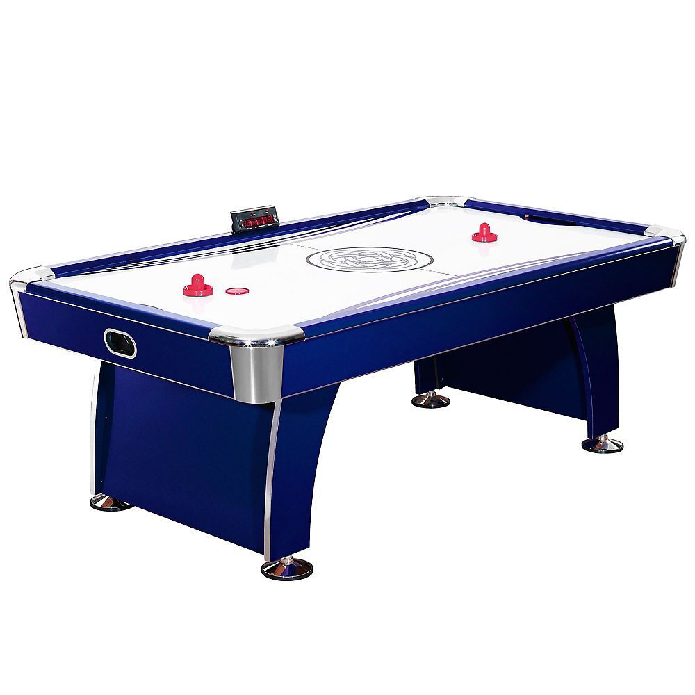 Hathaway Phantom 7 5 Foot Air Hockey Game Table For Kids And Adults With Electronic Scori The Home Depot Canada