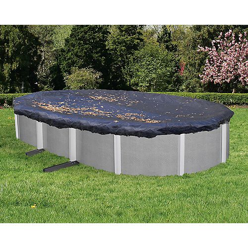 21 ft. x 41 ft. Oval Leaf Net Above-Ground Pool Cover