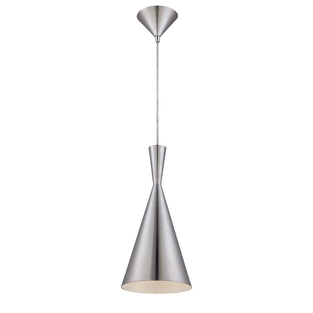 Eurofase Bronx Collection 1 Light Brushed Aluminum Pendant