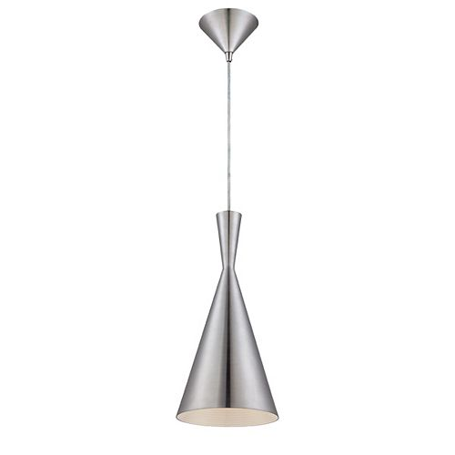 Eurofase Bronx Collection 1 Light Brushed Aluminum Pendant