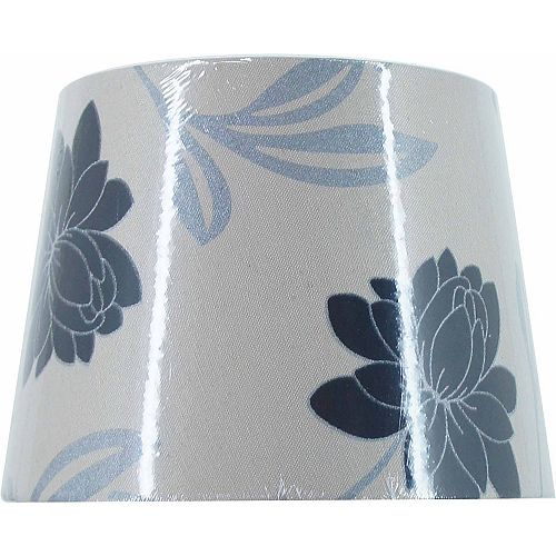 Abat-jour rigide au motif floral contemporain, lampe d'appoint
