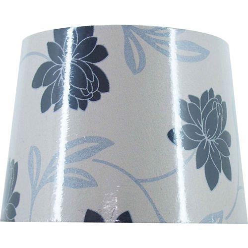 Abat-jour rigide au motif floral contemporain, lampe de table